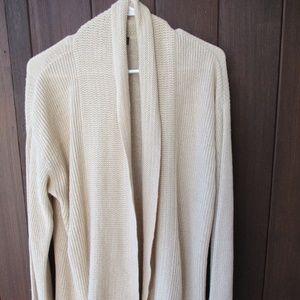 Linen Cardigan Sweater L XL